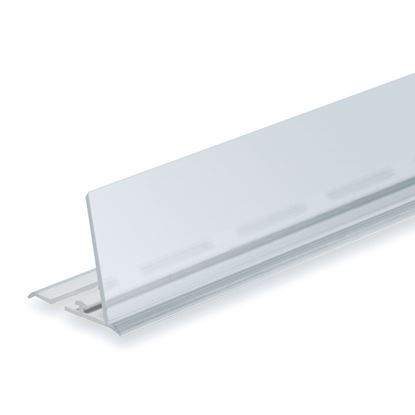 Picture of RAIL FOR DIVIDER - TRANSPARENT FRONT H. 40 MM - FOR WIRE SHELF