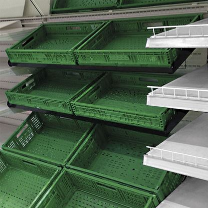 Picture of ANGLED SHELF FOR 2 FRUIT & VEGETABLE CRATES