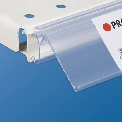 "Picture of FLIP-UP INCLINABLE DATASTRIP FOR SHELVES WITH ""C"" RAIL 25 MM HIGH - LABEL H.MAX 40 MM"