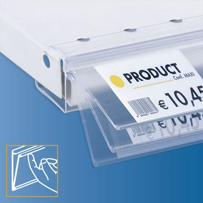Picture of FLIP-UP ROUNDED DATASTRIP FOR SHELF - LABEL H.MAX 40 MM