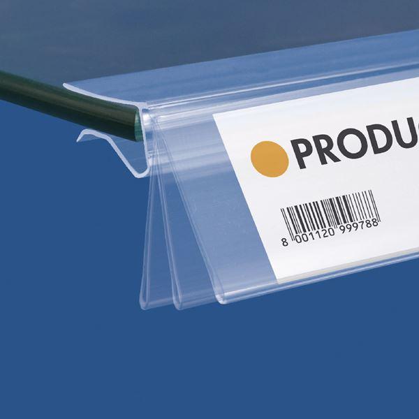 Mensole Di Vetro Prezzi.Synco Portaprezzo Basculante Per Ripiani In Vetro Etichetta H