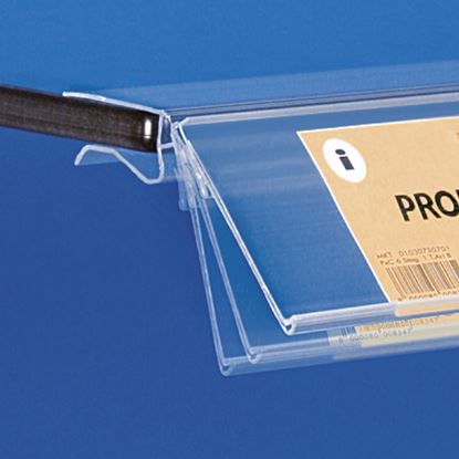 Picture of EXTRUDED LABEL HOLDER - WITHOUT CENTRAL CUT - REAR OPENING - LABEL H.MAX 45 MM