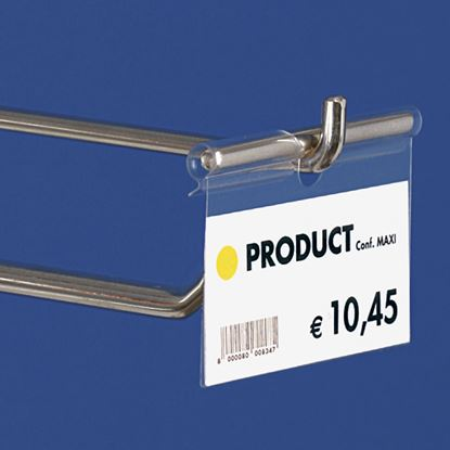 "Picture of ""ULTRA CLEAR"" FOLDED LABEL HOLDER - UNIVERSAL CENTRAL CUT 9-22 MM"