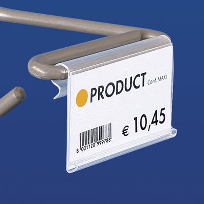 Picture of EXTRUDED LABEL HOLDER - WITHOUT CENTRAL CUT - FRONT OPENING - Label H.MAX 32 MM