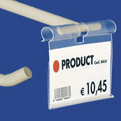 Picture of EXTRUDED LABEL HOLDER - CENTRAL CUT 9 MM - REAR OPENING - Label H.MAX 39 MM