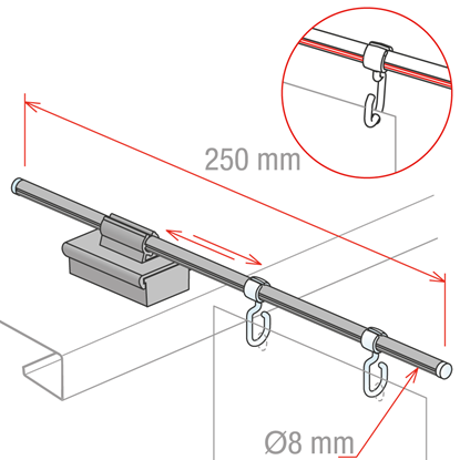 Picture of MAGNETIC AISLE SIGN FIXTURES - FIXING ON THE SHELF