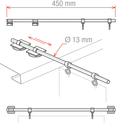 Picture of AISLE SIGN FIXTURES WITH 2 MAGNETS AND 2 HOOKS - DOUBLE USE