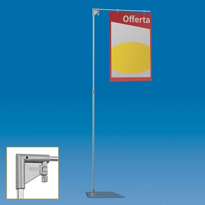 Picture of TELESCOPIC ALUMINIUM EASY STAND WITH 1 ARM