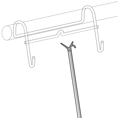 Picture of TELESCOPIC POLE FOR HANG-UP FOR BAR