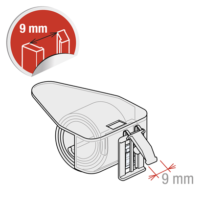 Picture of FLIP-UP UNIVERSAL CLIP FOR THICKNESS FROM 5 TO 30 MM