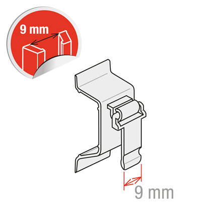 """Picture of CLIP FOR """"C"""" RAILS H. 30/40 MM"""