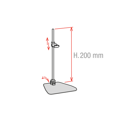 Picture of STAND WITH ADJUSTABLE CLIP AND INCLINABLE STEM