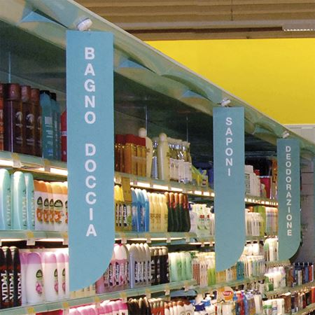 Picture for category VERTICAL AISLE SIGNS FOR SHELVING WITH CEILING