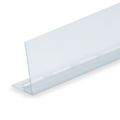 Picture of RAIL FOR DIVIDER - TRANSPARENT FRONT H. 60 MM - FOR WIRE SHELF
