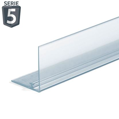 Picture of RAIL FOR DIVIDER - TRANSPARENT FRONT H. 30 MM - WITH ADHESIVE - Series 5
