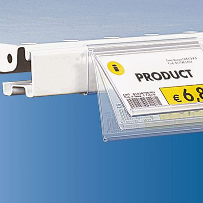 Picture of FLIP-UP DATASTRIP FOR CEFLA SYSTEM25 SHELF - LABEL H.MAX 40 MM - WITHOUT FINGER HOOK