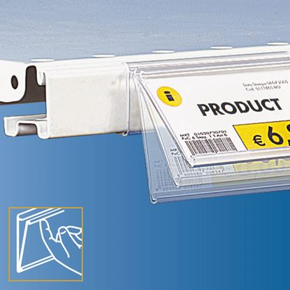 Picture of FLIP-UP DATASTRIP FOR CEFLA SYSTEM25 SHELF - LABEL H.MAX 52 MM - WITH FINGER HOOK