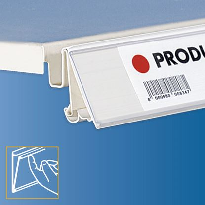 Picture of TEGOMETALL - LINDE - STOREBEST SHELF DATASTRIP - 2 DIFFERENT ANGLES - LABEL H.MAX 30 MM