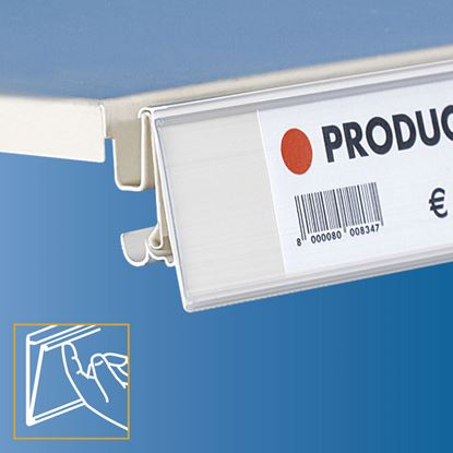 Picture of TEGOMETALL - LINDE - STOREBEST SHELF DATASTRIP - 2 DIFFERENT ANGLES - LABEL H.MAX 40 MM