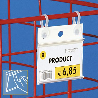 Picture of DATASTRIP WITH HOLES FOR HANGING - LABEL H.MAX 40 MM