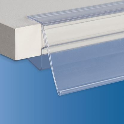 Picture of EXTRUDED LABEL HOLDER - CENTRAL CUT 8 MM - FRONT OPENING - LABEL H.MAX 39 MM