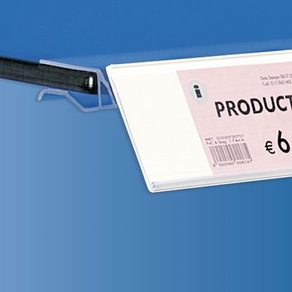 Picture of EXTRUDED LABEL HOLDER - WITHOUT CENTRAL CUT - REAR OPENING - LABEL H.MAX 52 MM