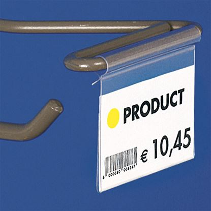 "Picture of ""ULTRA CLEAR"" FOLDED LABEL HOLDER - WITHOUT CENTRAL CUT"