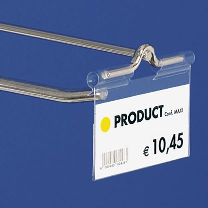 "Picture of ""ULTRA CLEAR"" FOLDED LABEL HOLDER - CENTRAL CUT 22 MM"
