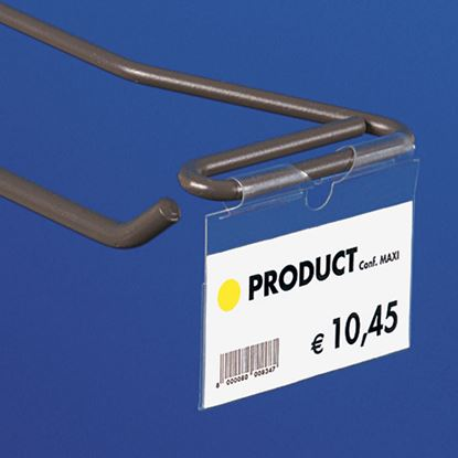 "Picture of ""ULTRA CLEAR"" FOLDED LABEL HOLDER for closed hooks - UNIVERSAL CENTRAL CUT 9-22 MM"
