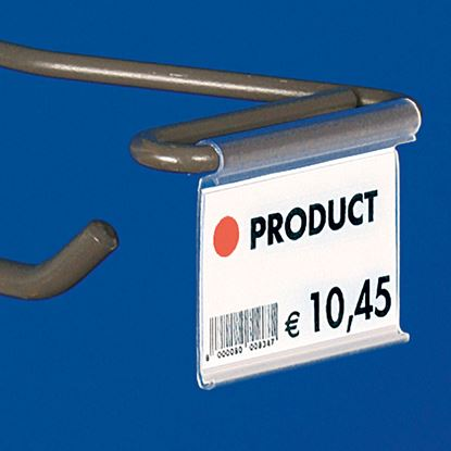 Picture of EXTRUDED LABEL HOLDER - WITHOUT CENTRAL CUT - FRONT OPENING - Label H.MAX 39 MM