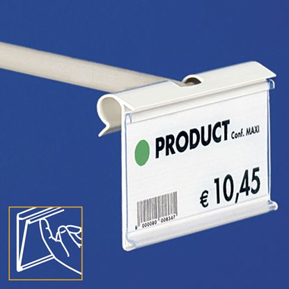 Picture of EXTRUDED LABEL HOLDER - CENTRAL CUT 11 MM - FRONT OPENING with finger hook - Label H.MAX 39 MM