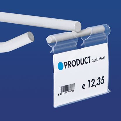 Picture of EXTRUDED LABEL HOLDER - UNIVERSAL CENTRAL CUT 9-22 MM - REAR OPENING - Label H.MAX 39 MM
