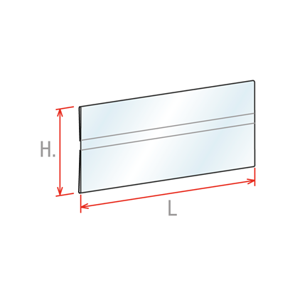 Picture of SHELF TALKERS FOR SCANNER RAILS - NEUTRAL - STRAIGHT