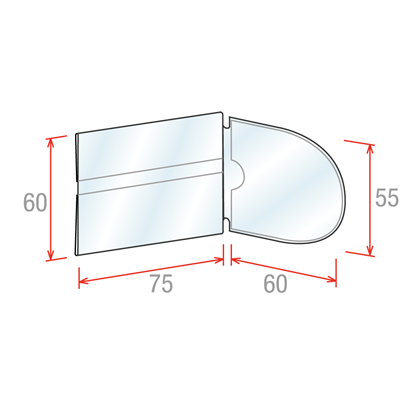 Picture of SHELF TALKERS FOR SCANNER RAILS - NEUTRAL - WITH ROUNDED FLAG