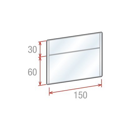 Picture of SHELF TALKERS FOR SCANNER RAILS - NEUTRAL - STRAIGHT DOUBLE POCKET