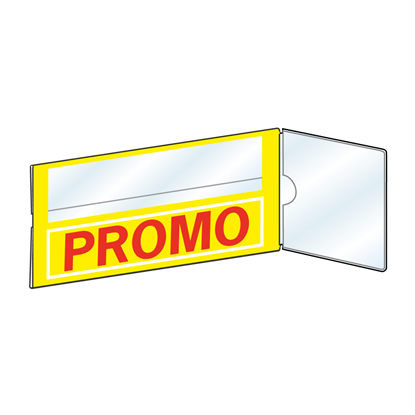 Picture of SHELF TALKERS FOR SCANNER RAILS - PRINTED - WITH FLAG