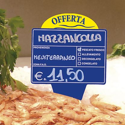 "Picture of ""OFFERTA"" TAG FOR FISH SECTION"