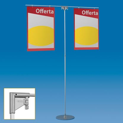 Picture of TELESCOPIC ALUMINIUM EASY STAND WITH 2 ARMS