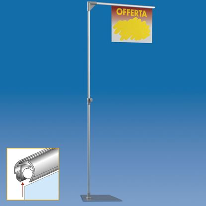 Picture of TELESCOPIC ALUMINIUM MAJOR STAND WITH 1 FAST CLIP ARM