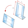 """Picture of SLIM ANGLED """"L"""" SHOWCARD HOLDERS - 2 POSITIONS"""