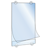 Picture of POCKET FOR GLASS FOR EASY MESSAGE SUBSTITUTION - WITH BUTTONHOLES