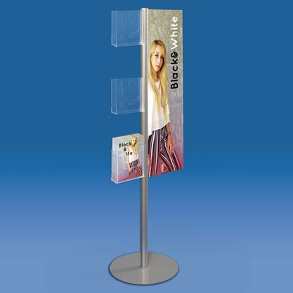 Picture of STAND WITH FIXED MESSAGE AND BROCHURE HOLDERS