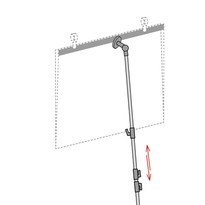 Picture of TELESCOPIC POLE FOR POCKET WITH METALLIC STRIP