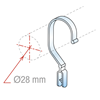 Picture of CLEAR HOOK FOR HANGING PANELS THICKNESS