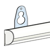Picture of SEMI-CIRCULAR FAST CLIP RAIL WITH HOOKS