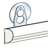 Picture of SEMI-CIRCULAR FAST CLIP RAIL WITH HOOKS AND SUCTION CUP