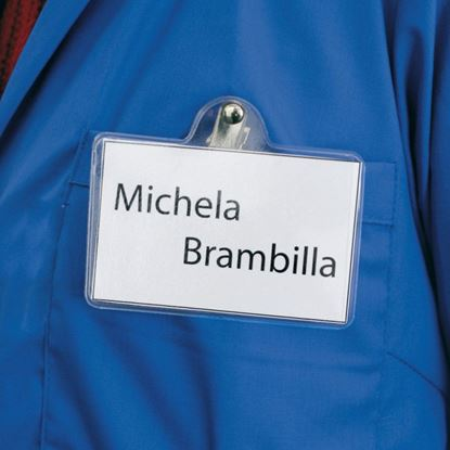 Picture of NAME BADGE WITH SWIVELLING SPRING CLIP