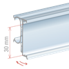 Picture of FLIP-UP PROFILE FOR REFRIGERATOR SHELF for Pricer, Hanshow and Altierre