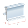 Picture of FLIP-UP LABEL HOLDER FOR CEFLA SYSTEM25 SHELF for Pricer, Hanshow and Altierre