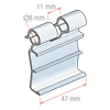 Picture of FLIP-UP LABEL HOLDER FOR HOOKS, CENTRAL CUT 11 MM for Pricer, Hanshow and Altierre